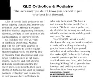 Style Magazine QldOrthotics